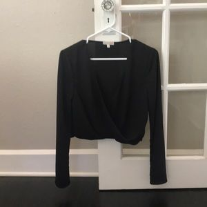 Gianni Bini black crop top size small